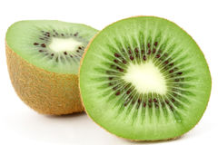 Kiwi halves Stock Photos