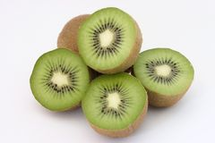Kiwi halves Stock Photography
