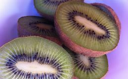 Kiwi halves in the bowl Royalty Free Stock Images