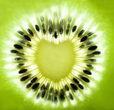 Kiwi heart shape Stock Image