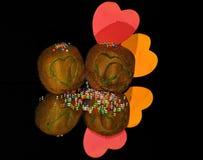 Kiwi with hearts Royalty Free Stock Image