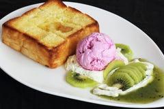 Kiwi Honey Toast Royalty-vrije Stock Afbeelding
