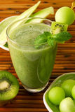 Kiwi honeydew smoothie Royalty Free Stock Photos