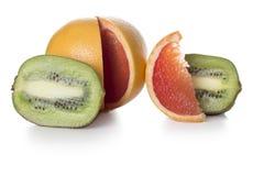 Kiwi i grapefruitowy Zdjęcia Royalty Free