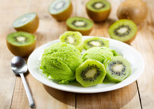 Kiwi ice cream Stock Image