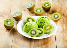 Kiwi ice cream Royalty Free Stock Photography