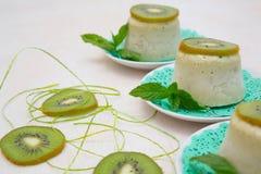 Kiwi ice cream Stock Photography