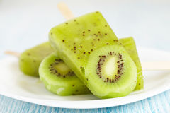 Kiwi Ice Cream Popsicle Stock Image