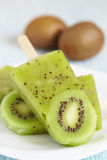 Kiwi Ice Cream Popsicle Stock Photography