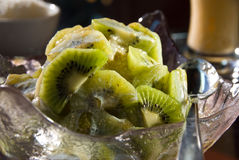 Kiwi ice dessert Royalty Free Stock Photography