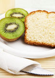 Kiwi and Icelandic Almond Cake Stock Photo