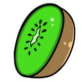 Hand-Drawn Kiwi Illustration Clipart Stock Images