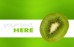 Kiwi isolated on a background. Kiwi isolated on a green and white background Stock Photography