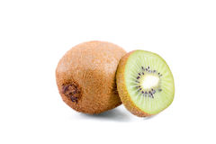 Kiwi. Isolated kiwis on white background with a nice and soft shadows. Photo made in subject studio royalty free stock image