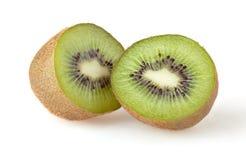 Kiwi isolated on white. Two green kiwi isolated on white background royalty free stock image