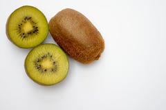 Kiwi isolated. Isolated kiwi on the white background stock photography