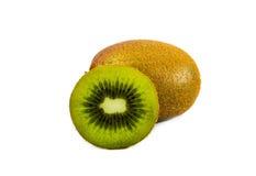 Kiwi isolato su fondo bianco Immagini Stock Libere da Diritti