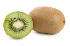 Kiwi isolato su priorità bassa bianca Fotografie Stock