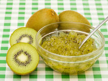 Kiwi Jam with Fruit Royalty Free Stock Photos