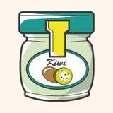 Kiwi jam theme elements vector,eps Royalty Free Stock Images