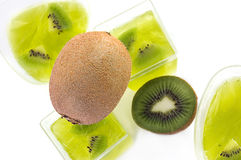 Kiwi jelly Stock Images