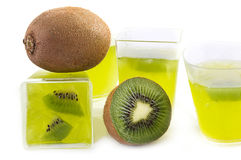 Kiwi jelly Royalty Free Stock Photo