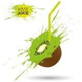 Kiwi Juice Vektor Illustrationer