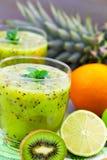 Kiwi juice with citrus fruit Royalty Free Stock Photography