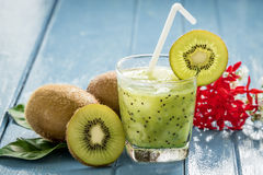 Kiwi juice with fresh fruits Stock Images
