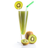 Kiwi juice and fruit Royalty Free Stock Photography