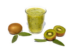 Kiwi juice with fruits Royalty Free Stock Photo