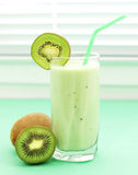 Kiwi juice in a glass Royalty Free Stock Image