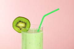 Kiwi juice in a glass Royalty Free Stock Photos