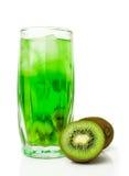 Kiwi juice with ice and fresh fruit Stock Photos