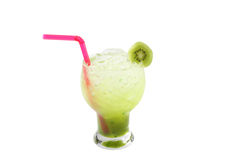 Kiwi Juice isolated on white background Stock Image