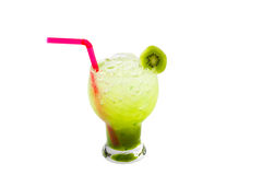 Kiwi Juice isolated on white background Stock Photo