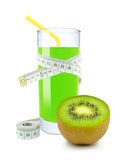 Kiwi juice and meter Stock Photography