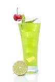 Kiwi juice with one cherry Stock Image
