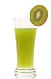 Kiwi juice and sliced kiwi on white background Stock Photo