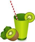 Kiwi Juice Summer Refreshment ilustração royalty free