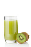 Kiwi and kiwi juice Stock Photos