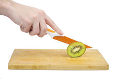 Kiwi and knife Royalty Free Stock Photos
