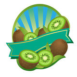 Kiwi Label. Label or Sticker for some product made by strawberry. For Fruit Label Bundle see royalty free illustration