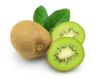 Kiwi with leaves Royalty Free Stock Photography