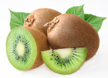 Kiwi with leaves. Royalty Free Stock Photography