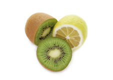 Kiwi and Lemon Stock Photos