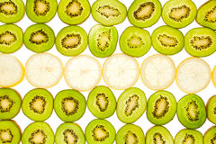 Kiwi and lemon background Stock Photos