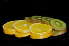 Kiwi with lemon Stock Image