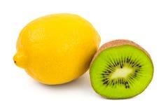 Kiwi and lemon fruit Stock Photography