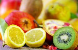 Kiwi , lemon and  fruits Royalty Free Stock Photo